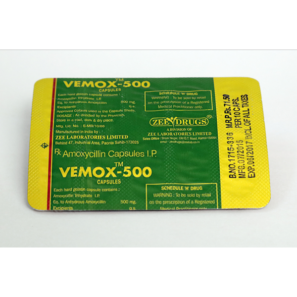 Vemox 500 ( 500mg (30 capsules) )